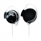 Voiceao VA-1630MV Ear Hook Headset w/ Microphone - Black + Silver (3.5mm Plug / 160cm)