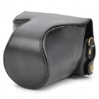 EOS-M Protective PU Leather Camera Bag w/ Shoulder Strap for Canon EOS M 18~55 - Black