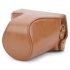 EOS-M Protective PU Leather Camera Bag w/ Shoulder Strap for Canon EOS M 18~55 - Brown