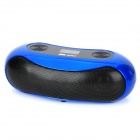 "Aoni D525 Portable 1.0"" Screen 2-Channel Media Player Speaker w/ TF / FM - Blue + Black"