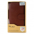 Alis Lichee Pattern Protective PU Leather Case for Samsung i9300 Galaxy S3 - Brown