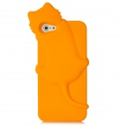 3D Cat Style Silicone Protective Back Case for Iphone 5 - Orange
