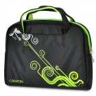 "Canyon NB22 Water Resistant PE Cotton Carrying & Shoulder Bag for 12.1"" Laptop - Black + Green"