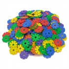 DIY Intelligence Training Plastic Snow Flake Assemble Jigsaw Toy Set (140 PCS)