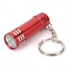 Mini-Aluminium-3-LED White Light Keychain - Rot (3 x LR44)