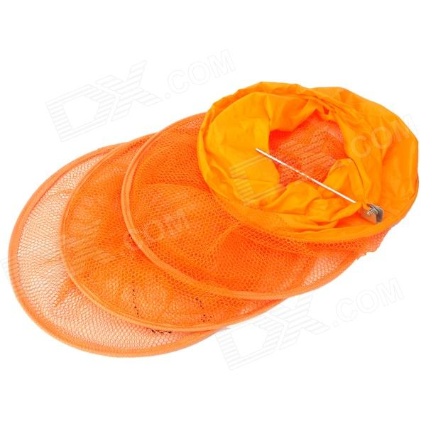 Outdoor fishing 4 layer fiber net fish basket orange 1 for Fiber in fish