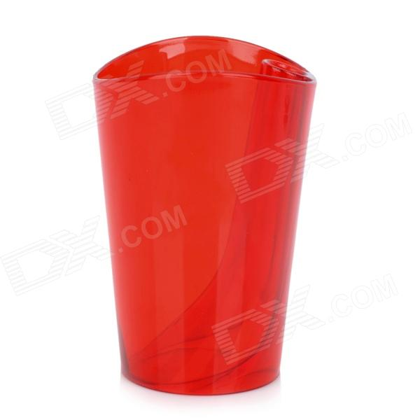JD-118 Creative Anti-scaling Tooth Mug w/ Toothbrush Holder Inside - Translucent Red
