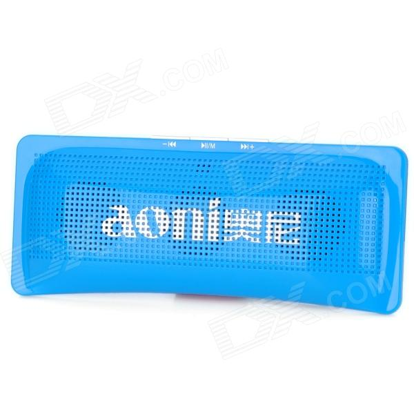 Aoni D511 Portable Pillow Style Media Player Speaker w/ TF / FM - Blue
