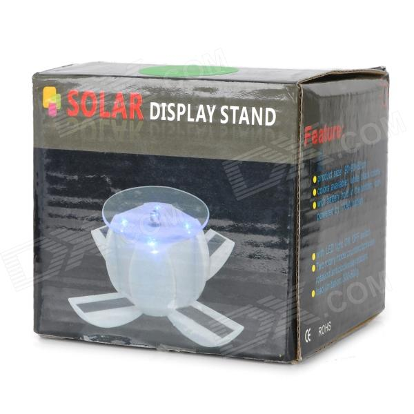 Exhibition Stand Rota : Solar power degree rotatable display stand tray w led
