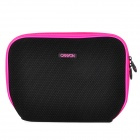"Canyon NB11A Nylon Mesh Fabric Sleeve Bag for 10"" Laptop - Black + Deep Pink"