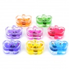 8-in-1 Apple Shape Sparkles Smokeless Candle - Colorful
