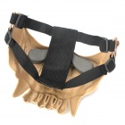 QiuZhang SW2107 Outdoor War Game Military Protective Skeleton Half Face Shield Mask - Tan