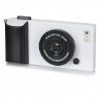 Creative 3D Camera Style Protective Plastic Back Case for Iphone 5 - White + Black
