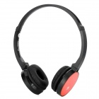 Aoni WL-709MV 2.4GHz Wireless Stereo Headphones w/ Microphone - Red + Black