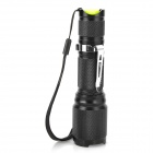 UltraFire S12 Cree XM-L T6 700lm 5-Mode White Zooming Flashlight - Black (1 x 18650)