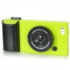 Creative 3D Camera Style Protective Plastic Back Case for Iphone 5 - Green + Black