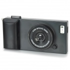 Creative 3D Camera Style Protective Plastic Back Case for Iphone 5 - Black