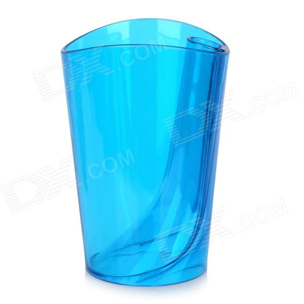 JD-118 Creative Anti-scaling Tooth Mug w/ Toothbrush Holder - Translucent Blue