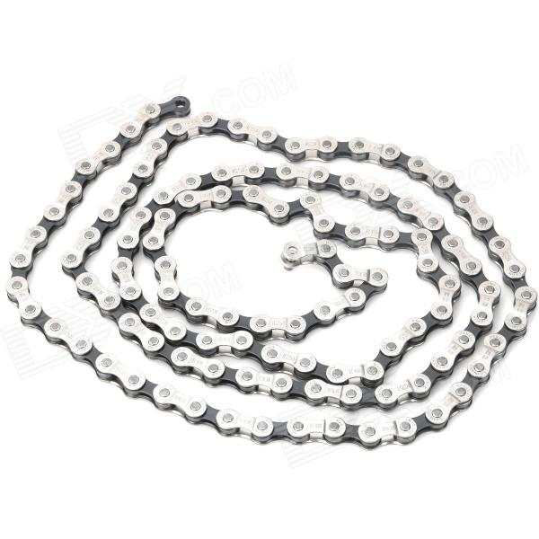 SHIMANO IG51 Replacement 8-Speed Chain for Bicycle - Silver + Black