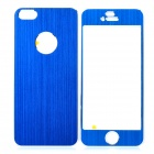Protective Front & Back Aluminum Skin Stickers for iPhone 5 - Blue