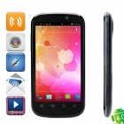 "Newsmy N1 Android 4.0 WCDMA & GSM Bar Phone w/ 4.3"" Capacitive Screen / Wi-Fi / Dual-SIM - Black"
