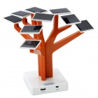 Creative 3000mAh Solar Power Tree w/ 10-in-1 USB Cable for HTC / Iphone / Samsung / Motorola