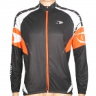 ACTSEE Fashion Pattern Bicycle Cycling Long Sleeves Jersey - Black + Orange + White (Size L)