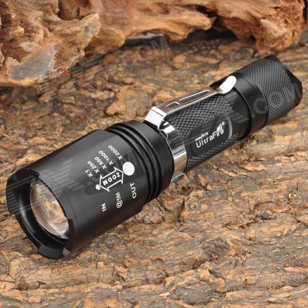 UltraFire 700lm 5-Mode White Zooming Crown Head Flashlight - Black (1 x 18650) наушники crown cmera 700 cmera 700