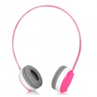 Aoni WL-708MV 2.4GHz Wireless Stereo Headphones w/ Microphone - Deep Pink