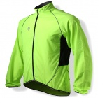 SPAKCT CSY205B Bicycle Cycling Reflective Strip Long Sleeves Jersey - Luminous Green (Size M)