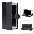 Notebook Style Protective PU Leather Case for Samsung Galaxy Note 2 N7100 - Black