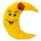 YL2903 Moon and Ladybug Style Decoration Toy w/ Suction Cup - Yellow