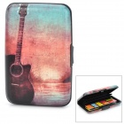 WL005 Retro Guitar Pattern Aluminum Card Storage Case