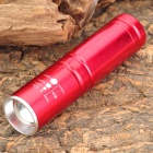 348lm 3-Mode White Zooming Flashlight - Red (1 x 14500 / 1 x AA)