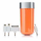 L401 Portable 4000mAh Mobile Power Battery Charger w/ 1-LED White Light / Adapters - Orange