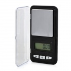 Portable 1.5&quot; LCD Precision Digital Pocket Scale - Silver + Black (200g / 0.01g)