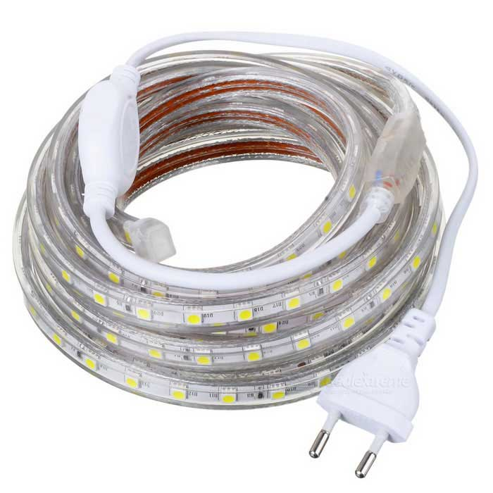 72W 4000LM Cold White 300*SMD 5050 LED Light Strip (220V/ EU Plug/ 5m)5050 SMD Strips<br>MaterialWaterproofForm  ColorWhiteQuantity1EmitterEmitter Type5050 SMD LEDTotal Emitters300Power72Color BINCold WhiteColor Temperature6000~7000kPacking List<br>