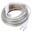 72W 4000lm 7000K 300-SMD 5050 LED White Light Strip - Transparent (220V / EU Plug / 500cm)