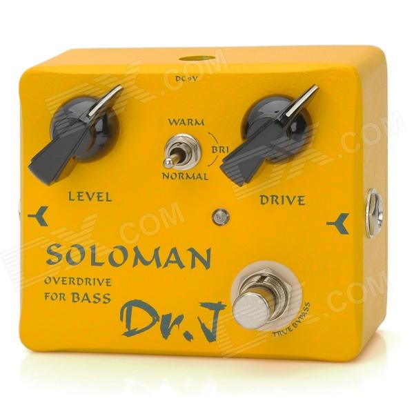 JOYO DR.J D52 DRJ Soloman Bass Overdrive - Yellow + Black - DXInstrument Parts<br>Brand: JOYO - Model: DR.J D52 - Quantity: 1 piece - Color: Yellow + black - Material: Aluminum alloy + plastic - Compatible Models: Suitable for electronic guitar folk guitar classic guitar bass - Application: Changes sound effect enhances quality of recording - Made your bass sound more attractive - It is specially designed for bass player with concise panel but excellent tone from rock to metallic bass - With 3 tone switch options you wont get troublesome for the specification adjustment of general tone knobs - It is indeed omnipotent from bass accompaniment for the low-key rock band to prominent outstanding bass solo - True bypass design to minimize the tone loss - Packing list: -1 x Bass Overdrive<br>