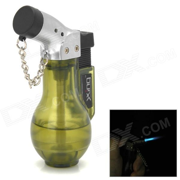 Vans Style Windproof Butane Gas Lighter - Silver + Black + Green creative camera shape windproof green flame butane gas lighter w colorful flashing light black