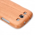 Detachable Protective Wooden Case for Samsung i9300 Galaxy S3 - Light Brown