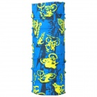 Outdoor Sports Bicycle Cycling Seamless Head Scarf - Blue + Yellow