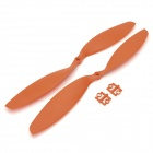 "HJ 12 x 3.8"" 1238 CW / CCW Propeller for Multi-axis R/C Airplane - Grey + Orange (2 Pairs)"