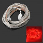 72W 4000lm 630nm 300-SMD 5050 LED Red Light Strip - Transparent (220V / EU Plug / 500cm)