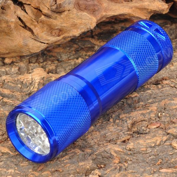 385~395nm 9-LED Purple Light UV Flashlight - Blue (3 x AAA)