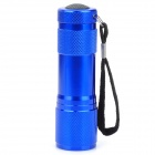 385 ~ 395nm 9-LED Roxo Luz UV Flashlight - azul (3 x AAA)