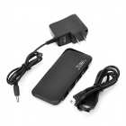 HBU-7 Ultra Thin 480Mbps 7-USB 2.0 Port Hub w/ AC Power Charger - Black (2-Flat-Pin Plug / 110~240V)
