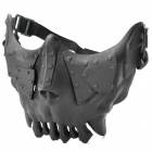 QiuZhang SW2108 Outdoor War Game Military Protective Skeleton Half Face Shield Mask - Black