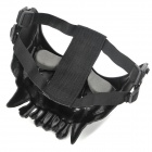 QiuZhang SW2112 Outdoor War Game Military Protective Skeleton Half Face Shield Mask - Black + Silver