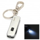 iwoo iwoo-025 Multi-function Dual Ring Cupronickel Tin Alloy Keychain w/ LED Light - Silver